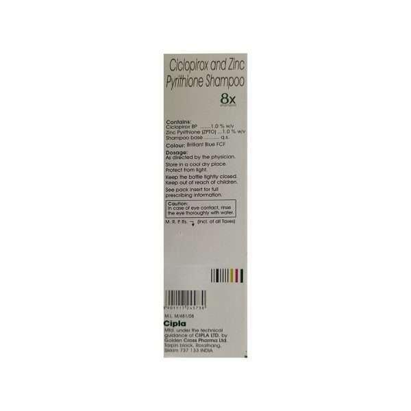8x shampoo ciclopirox 4