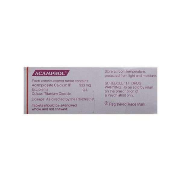 acamprol tablet acamprosate 333mg 3