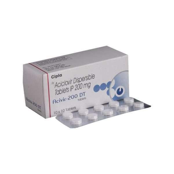 acivir dt tablet acyclovir 200mg 1