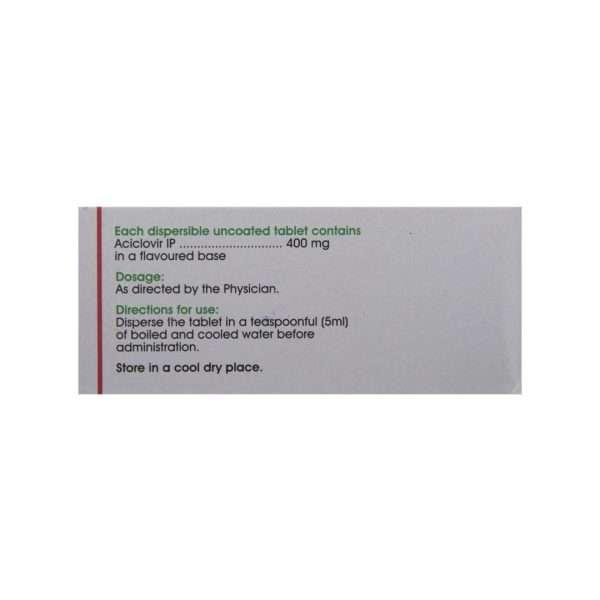 acivir dt tablet acyclovir 400mg 3