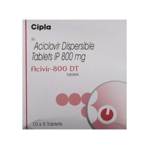 acivir dt tablet acyclovir 800mg 2