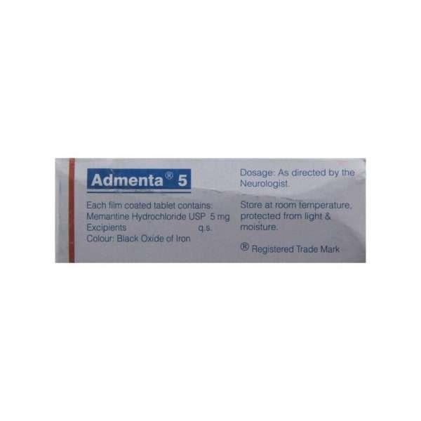 admenta tablet memantine 5mg 3