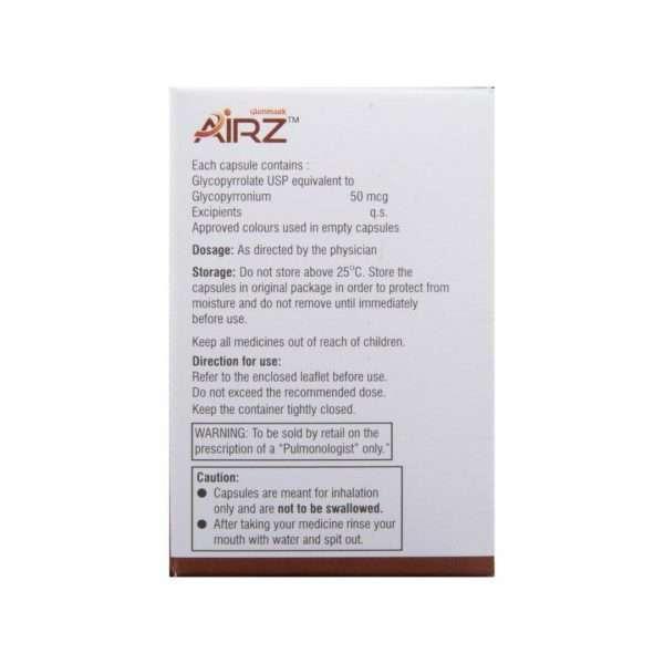 airz tablet glycopyrrolate 50mcg 3