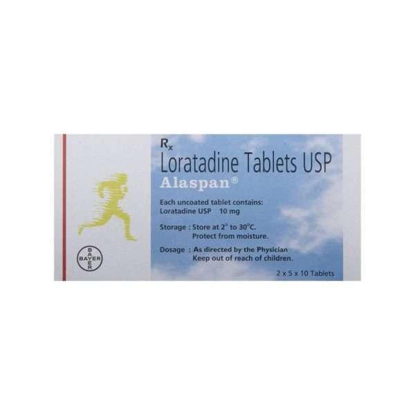 alaspan tablet loratadine 10mg 2
