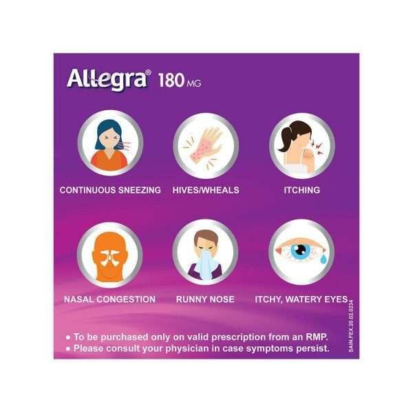 allegra tablet fexofenadine 180mg 4