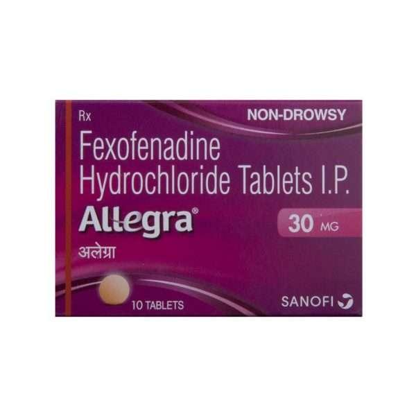 allegra tablet fexofenadine 30mg 2
