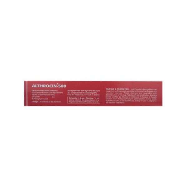 althrocin tablet erythromycin 500mg 3