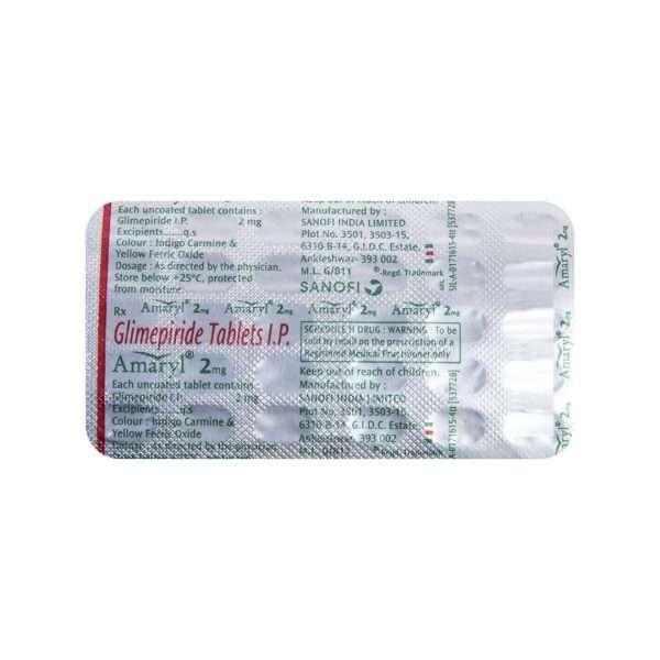 amaryl tablet glimepiride 2mg 1