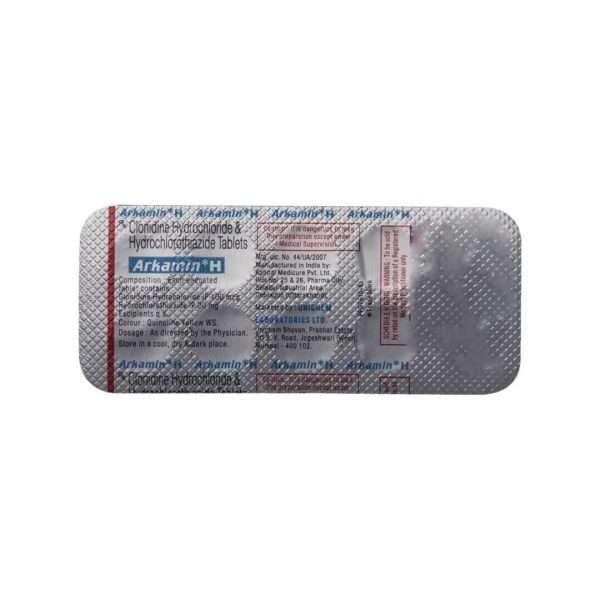 arkamin h tablet clonidine 5