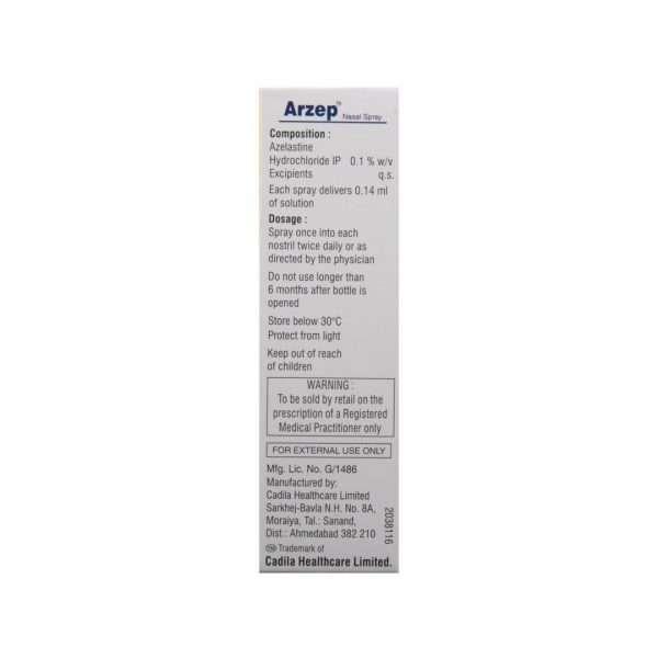 arzep nasal spray azelastine 0 1 3