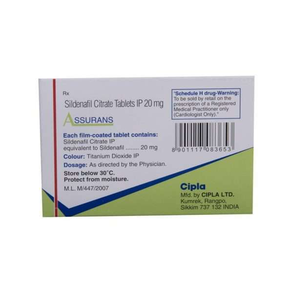 assurans tablet sildenafil 20mg 3