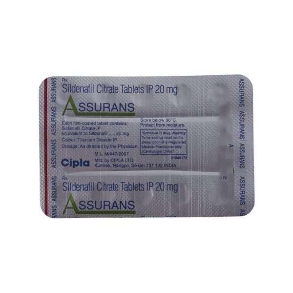 assurans tablet sildenafil 20mg 5