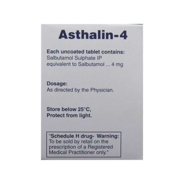 asthalin tablet salbutamol 4mg 3