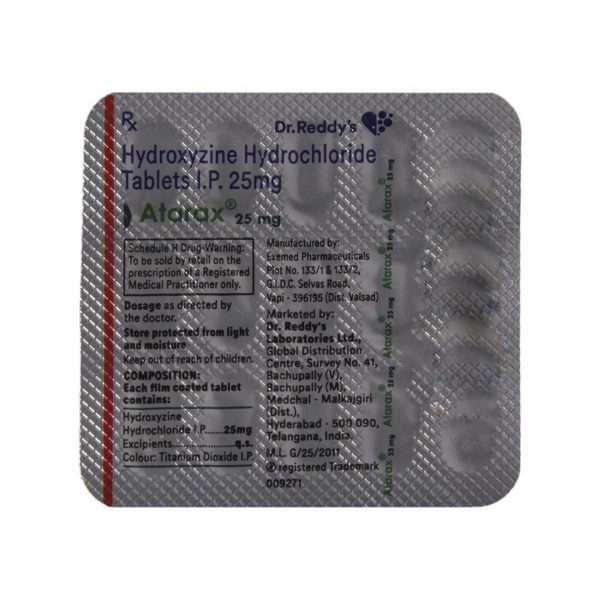 atarax tablet hydroxyzine 25mg 4