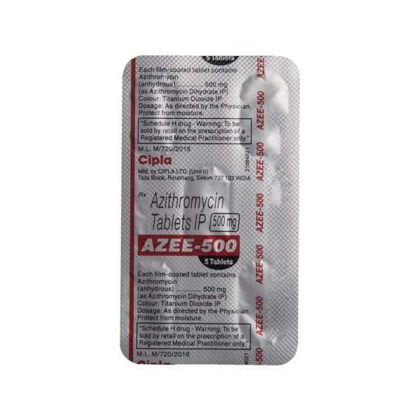 azee tablet azithromycin 500mg 5