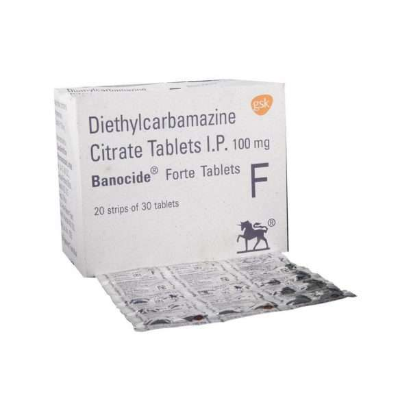 banocide forte tablet diethylcarbamazine 100mg 1