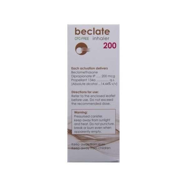 beclate inhaler beclometasone 200mg 3