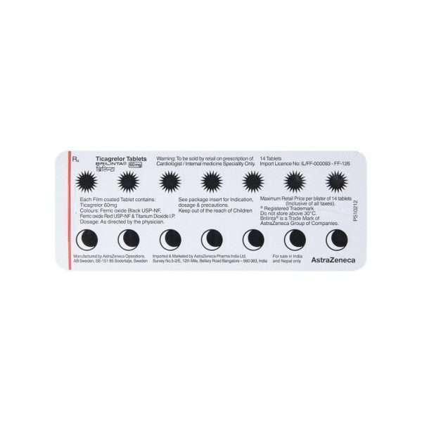 brilinta tablet ticagrelor 60mg 5