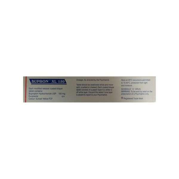 bupron xl tablet bupropion 150mg 2