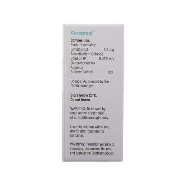 careprost eye drops bimatoprost 0 03 3