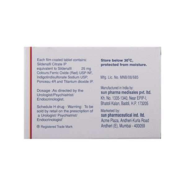 caverta tablet sildenafil 25mg 3