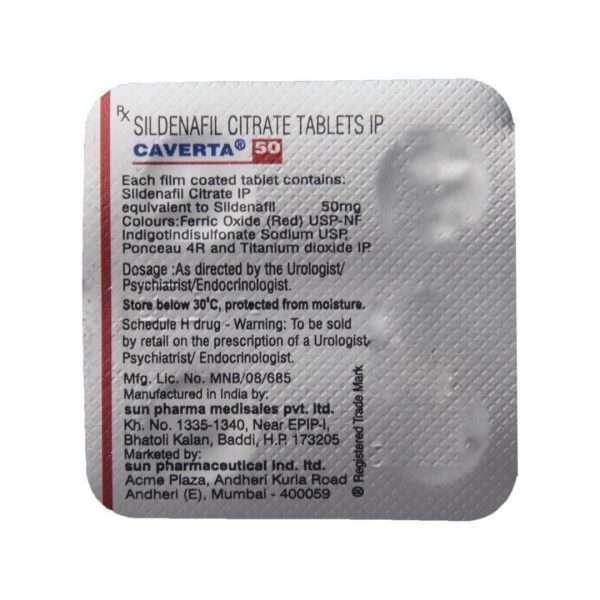caverta tablet sildenafil 50mg 5