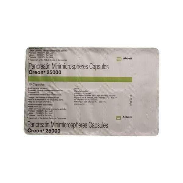 creon capsule pancreatin 300mg 5