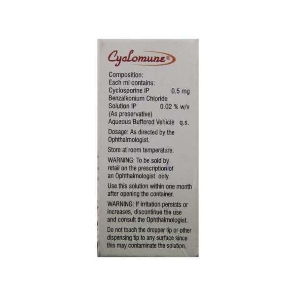 cyclomune eye drops cyclosporine 0 05 3