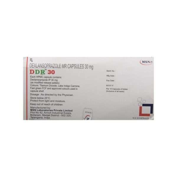 ddr capsule dexlansoprazole 30mg 3