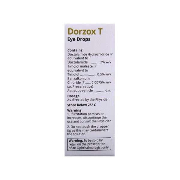 dorzox t eye drops dorzolamide 3