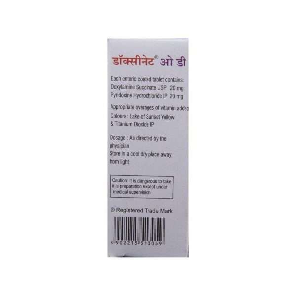 doxinate od tablet pyridoxine 3