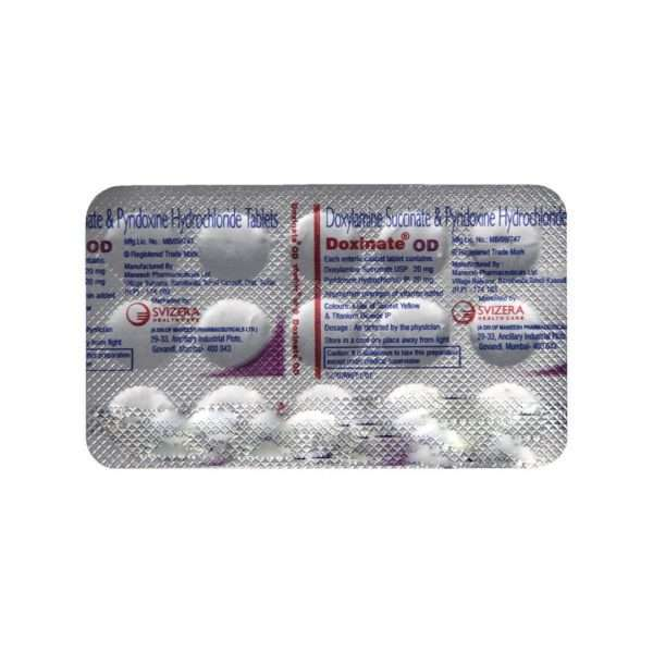 doxinate od tablet pyridoxine 5
