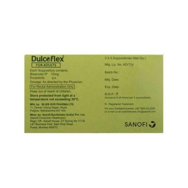 dulcoflex suppository capsule bisacodyl 10mg 3