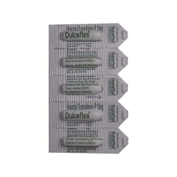 dulcoflex suppository capsule bisacodyl 10mg 4