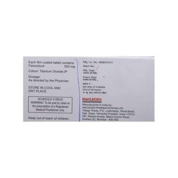 famcimac tablet famciclovir 500mg 3