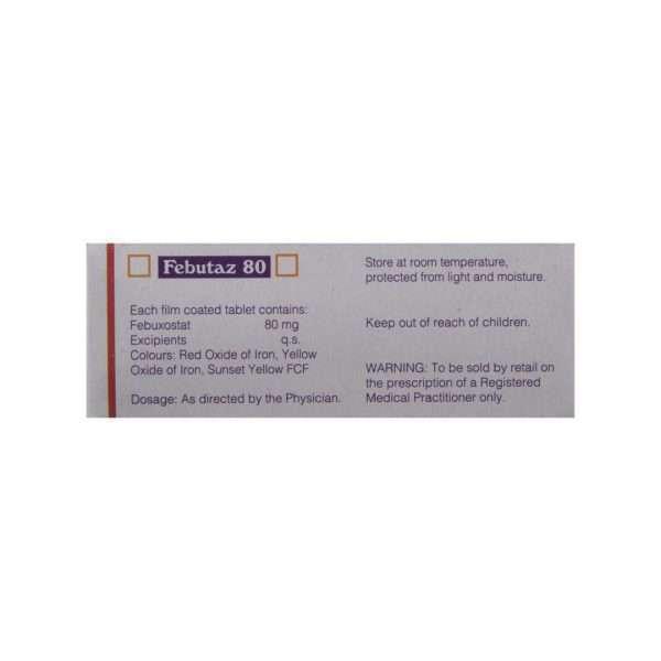 febutaz tablet febuxostat 80mg 3