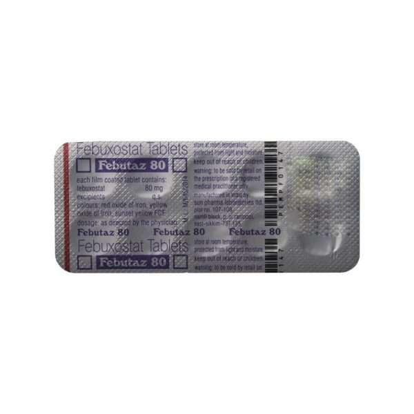 febutaz tablet febuxostat 80mg 5