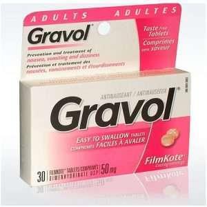 gravol tablet dimenhydrinate 50mg 1