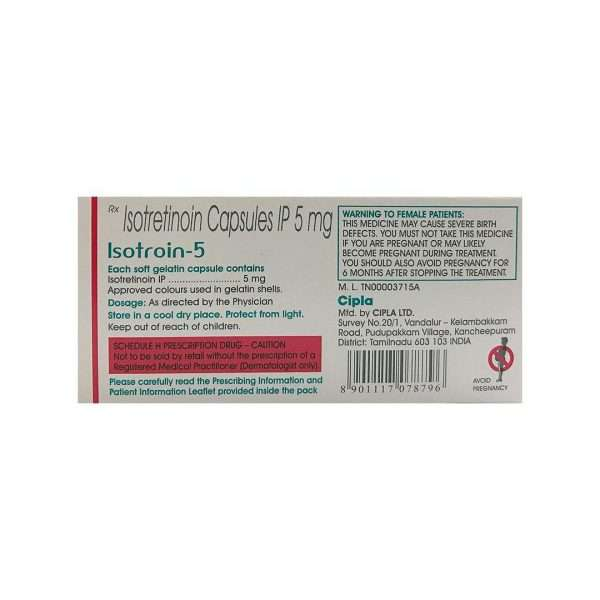 isotroin capsule isotretinoin 5mg 2