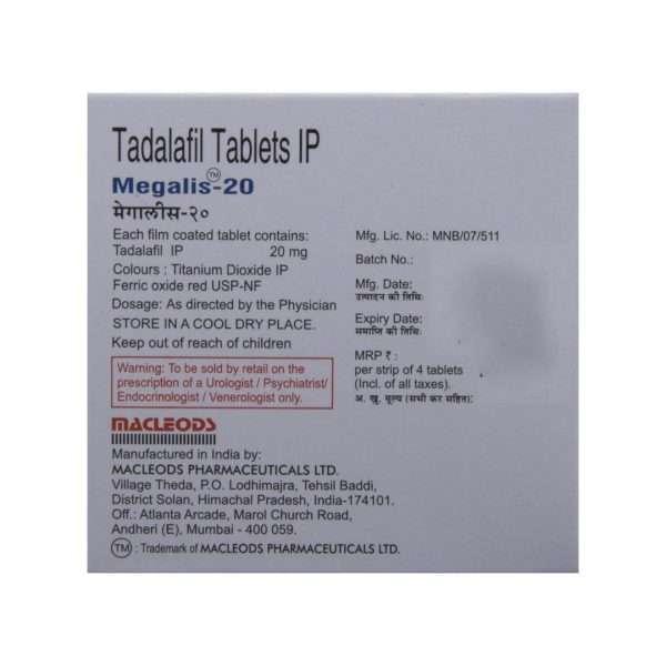 megalis tablet tadalafil 20mg 3