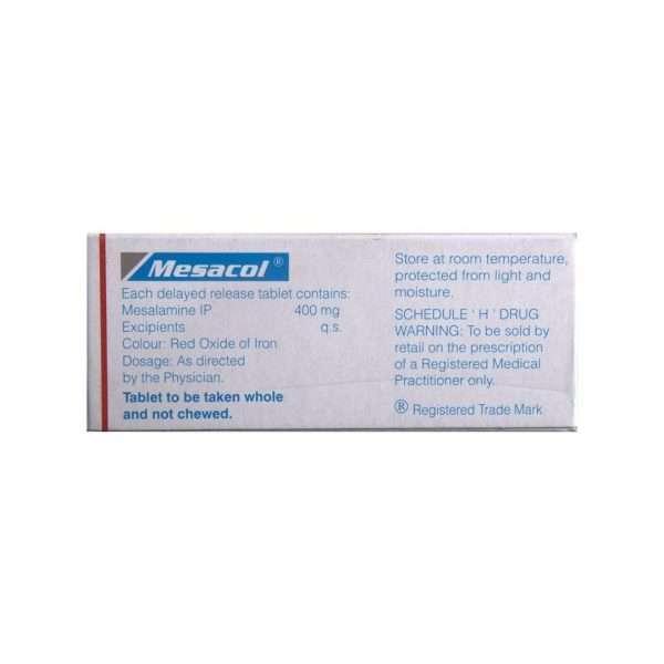 mesacol tablet mesalazine 400mg 3