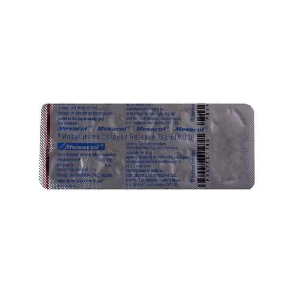 mesacol tablet mesalazine 400mg 5