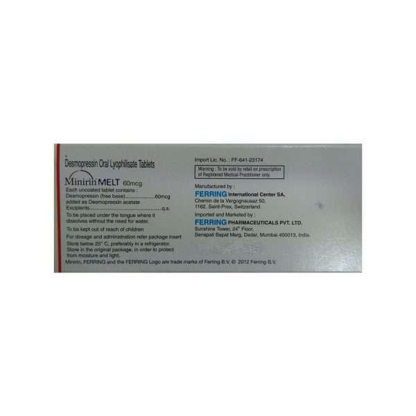 minirin melt tablet desmopressin 60mcg 2