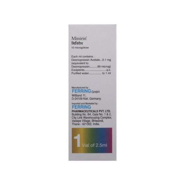 minirin nasal spray desmopressin 2 5ml 2