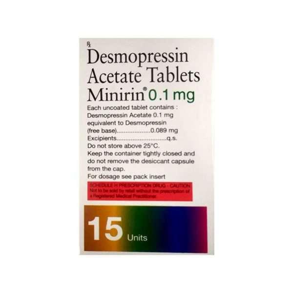 minirin tablet desmopressin 0 1mg 2