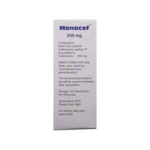 monocef injection ceftriaxone 250mg 1