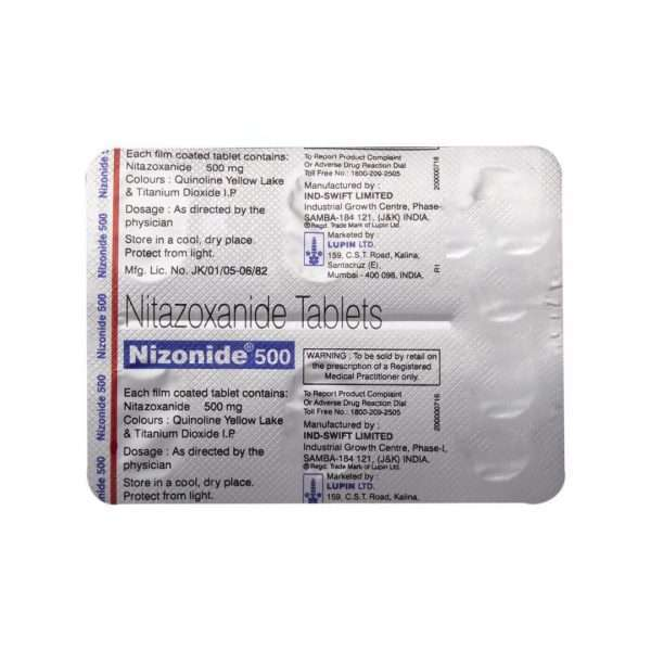 nizonide tablet nitazoxanide 500mg 5