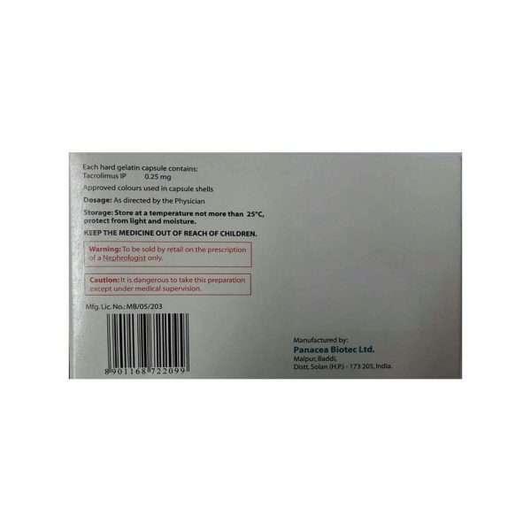 pangraf capsule tacrolimus 0 25mg 2
