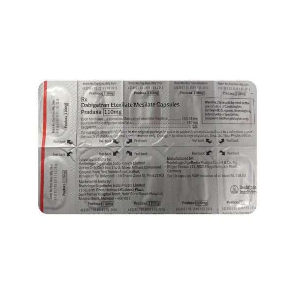 pradaxa capsule dabigatran etexilate 110mg 1