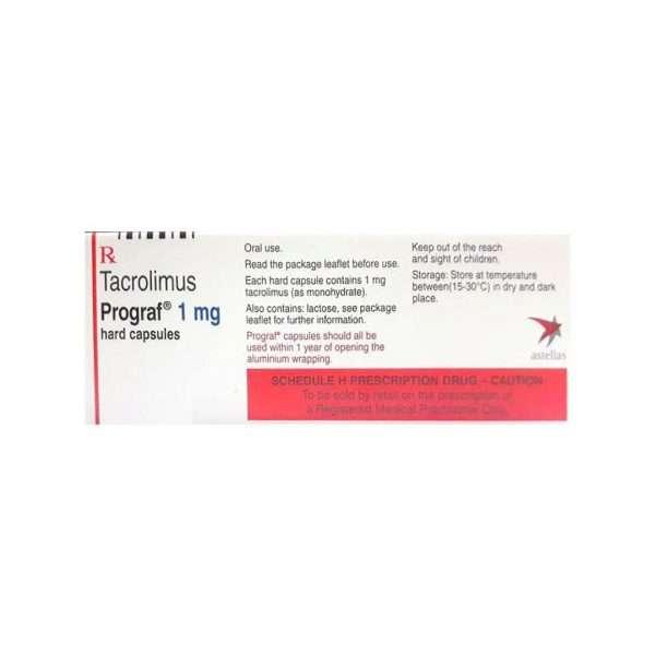prograf capsule tacrolimus 1mg 2